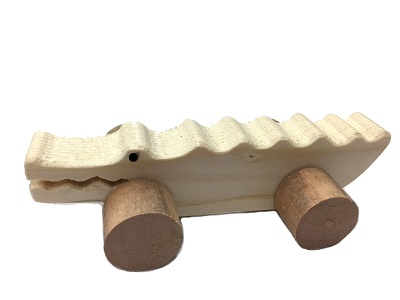 圖說-阿萌動物木工小車