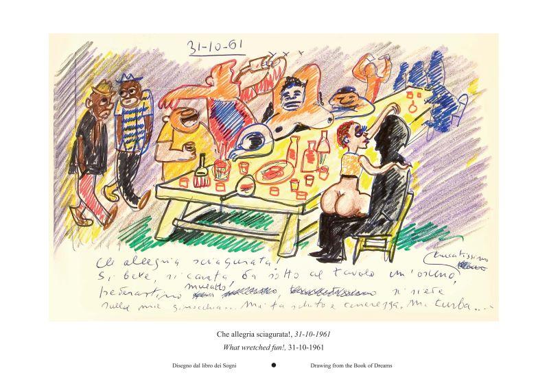 2020TIBE_費里尼的美味人生插畫展-多麼該死的樂趣!1961年10月31日,《夢書》手稿