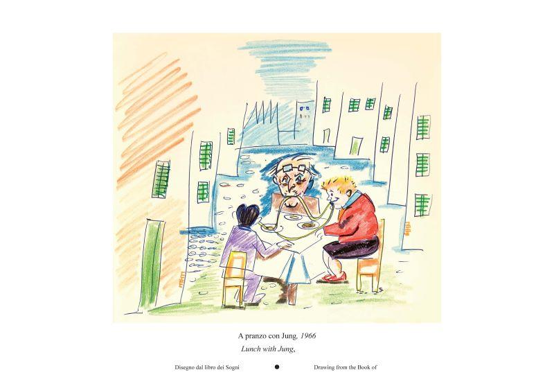 2020TIBE_費里尼的美味人生插畫展-與榮格共進午餐。1966年,《夢書》手稿