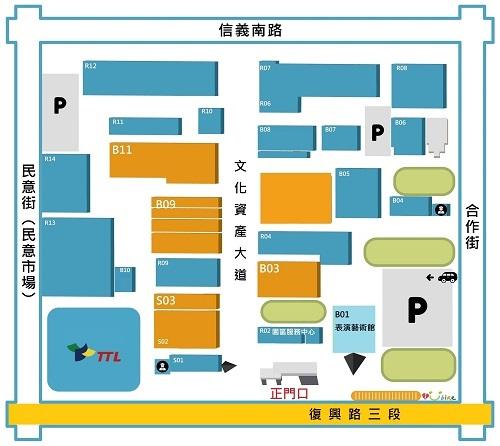 2021 巡迴書展 台中_園區地圖